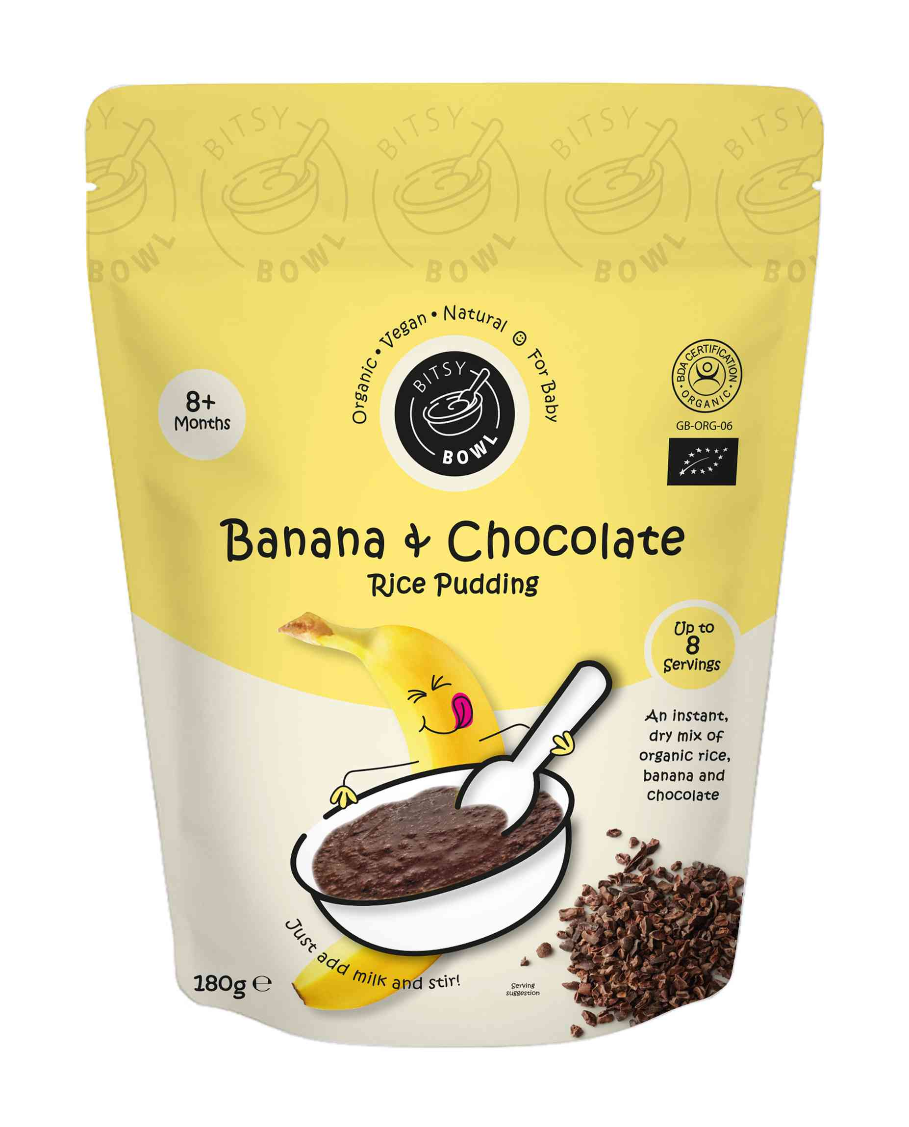 Organic Banana & Chocolate Rice Pudding