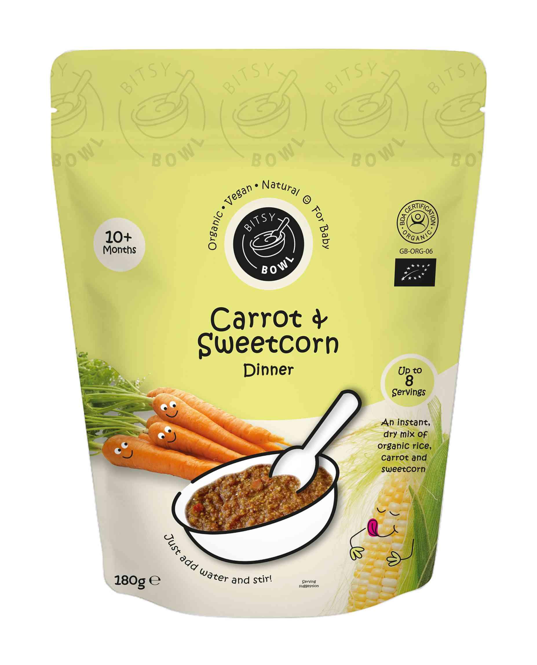 Organic Carrot & Sweetcorn Dinner